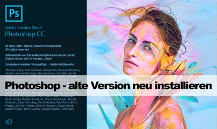 Illustration zu Photoshop - alte Version neu installieren